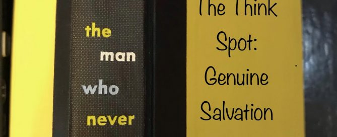 Photo of one of Pastor Bo Wagner's books, The Man Who Never Was