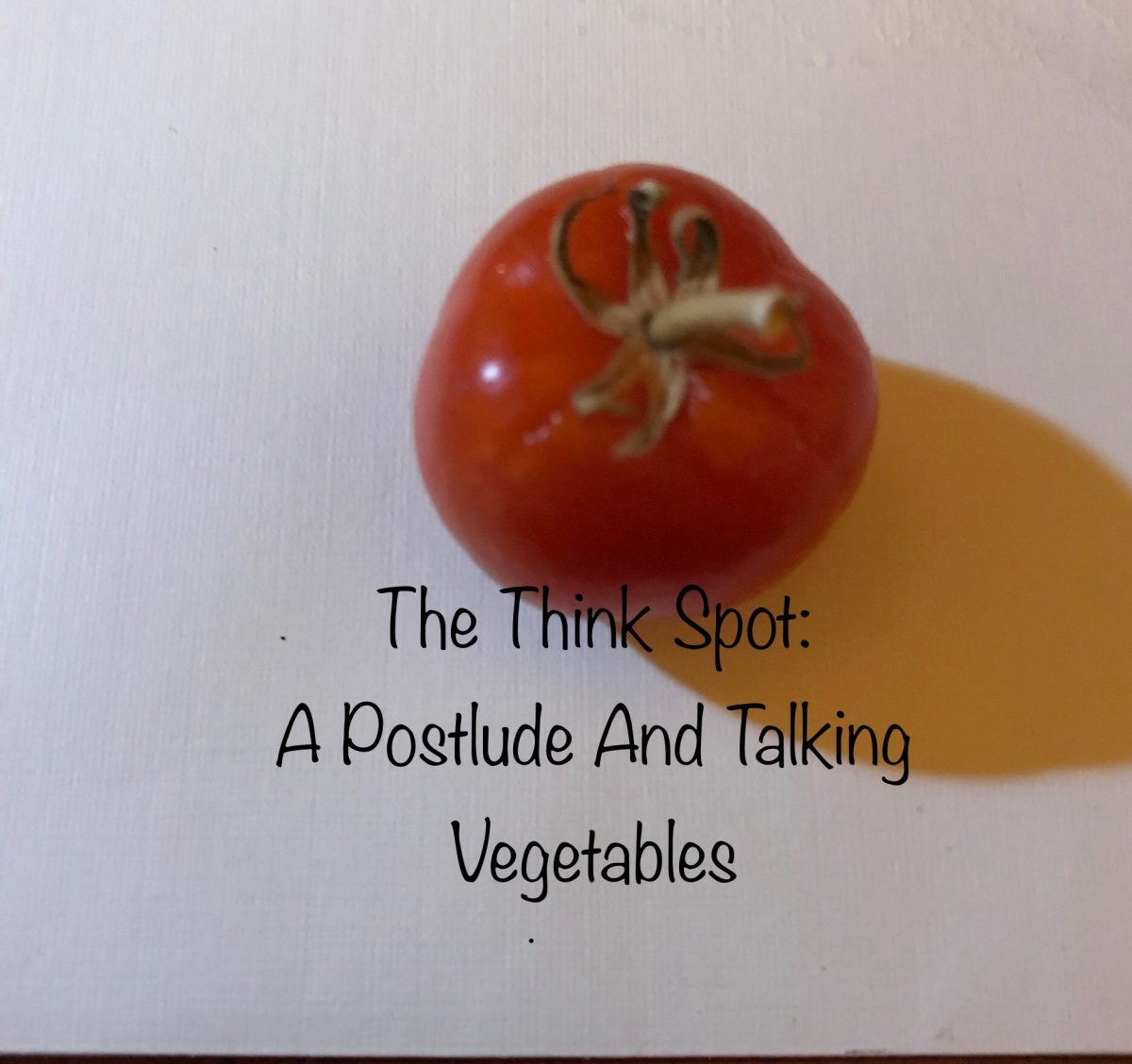 Photo of a tomato by Pastor Bo Wagner, admirer of the Veggie Tales!