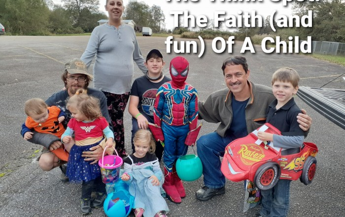 Photo of Pastor Bo Wagner with kids at Trunk or Treat