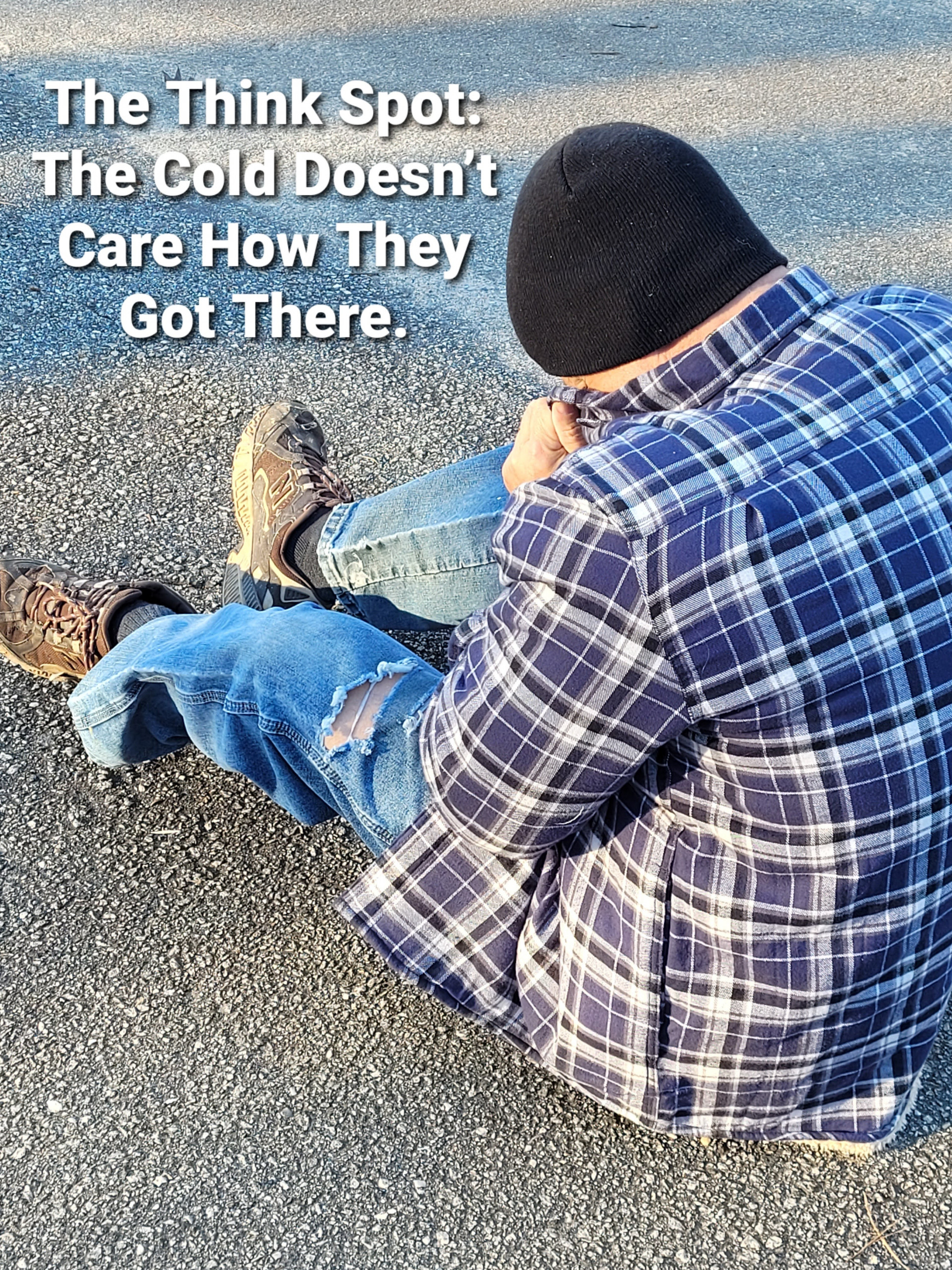 Pastor Bo Wagner as a man cold and homeless